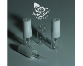 Флаконы отливанты стекло, спрей пластик белый 2мл