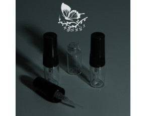Флаконы отливанты стекло, спрей пластик черный 2мл