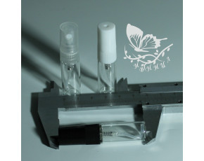 Флаконы отливанты стекло, спрей пластик чёрный 3мл