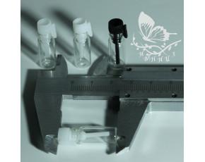 Фиолки пробники стекло 0,5 мл прозрачная крышка