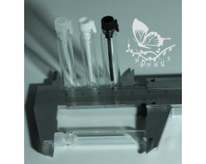 Фиолки пробники стекло 2 мл прозрачная крышка