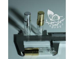 Флаконы отливанты стекло, спрей металл 3мл
